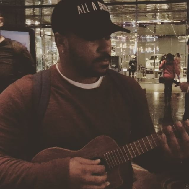 This is @michaelvontraeclark. One of the most talented dudes I've ever met. Someone's gonna get lucky when they give this dude a shot! #ukelele #vocals #fire #alladream #star #voice #sing #music #truth