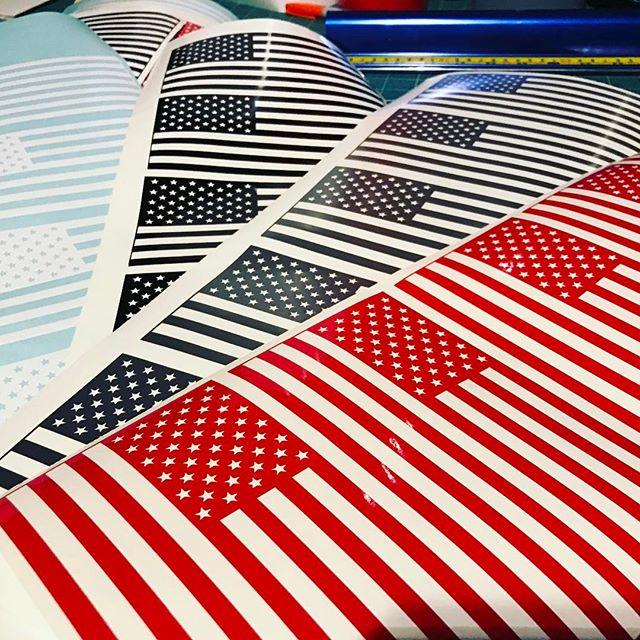 Vinyl American Flags #kingofthehammers #koh #decals