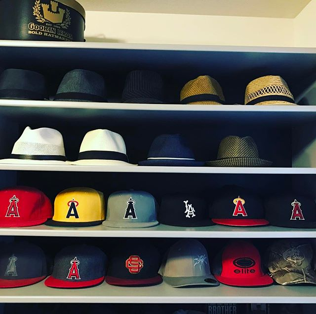 Lid storage. #hat #addict #angels #goorinbros