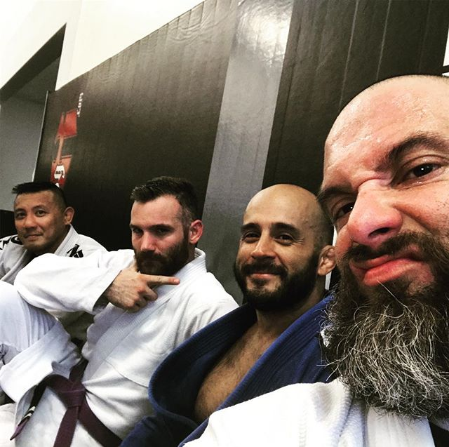 Much needed work on the mat with these monsters! #jiujitsu #bjj #oss #carlsongracieteam #menifee #stankeye