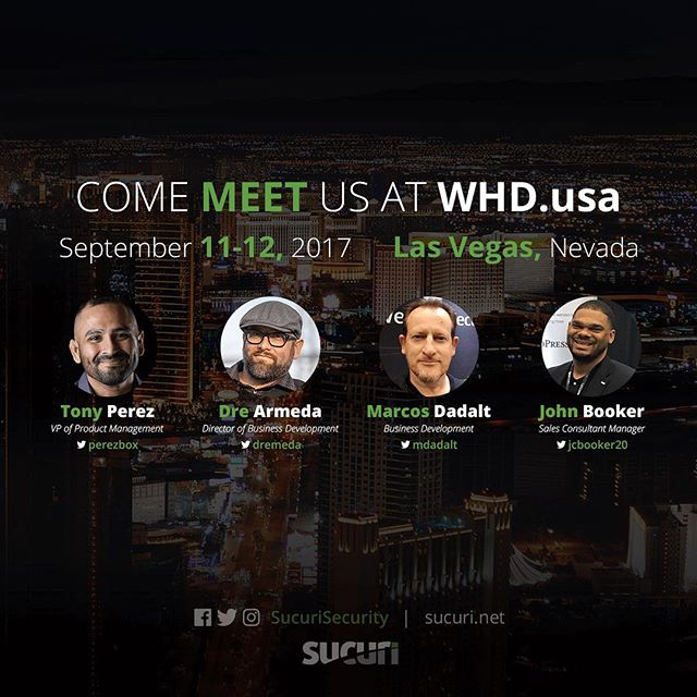 .⠀We're excited to sponsor and participate at #WHDusa this upcoming Sept 11-12.⠀⠀⠀⠀Are you coming? Let's meet!⠀⠀⠀⠀Use the link in our @sucurisecurity profile to book a meeting with us an we'll be happy to get back to you.⠀⠀⠀⠀See you in Las Vegas!