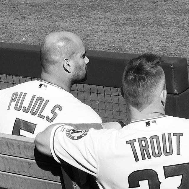Legendary! #angels #baseball #pujols #trout #big40 #stankeye