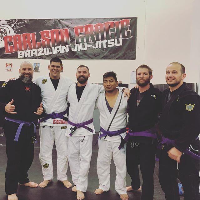 Menifee Grape Apes! Congrats to our newest purple belts! #carlsongracieteam #jiujitsu #bjj #oss