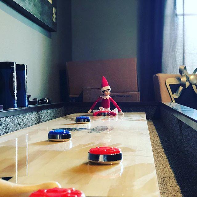 Crazy Elf! #shuffleboard #Christmas