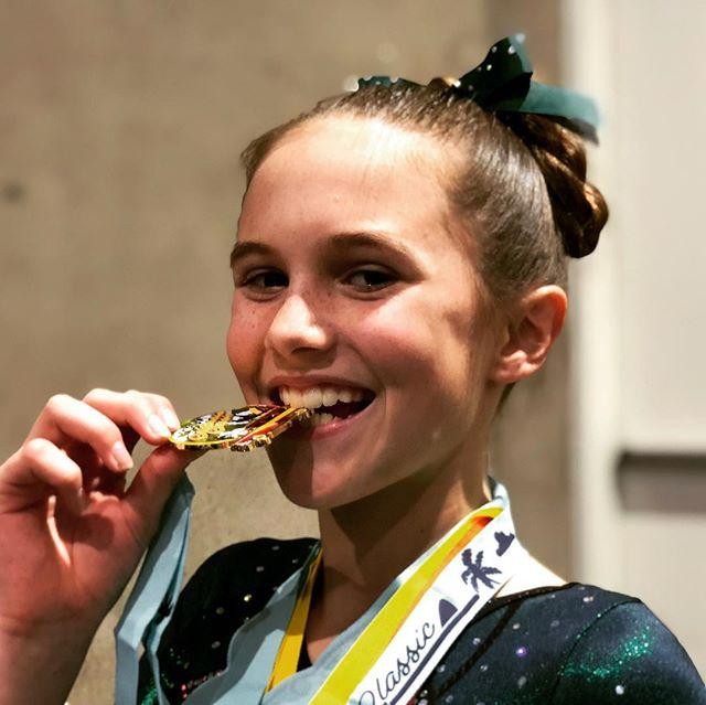 Your SCEGA Gymnastics California Classic Overall Champion! #LaineyBug