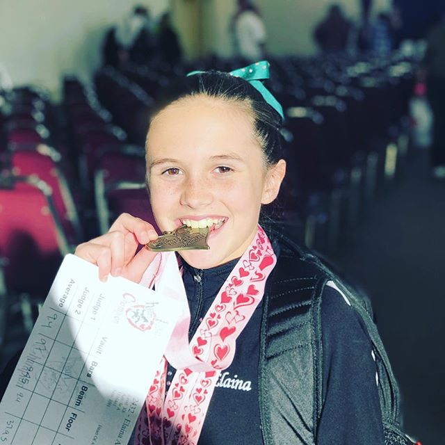 All Around Individual Champion. Well done, Lainey Bug! #gymnastics #twofortwo