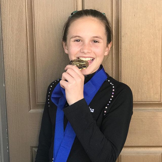 Lainey won the overall again. Her 3rd overall championship in as many meets. I'm beyond proud of her and all her hard work. Keep working kid! #gymnastics #scega #bars #beam #vault #floor #california #gym