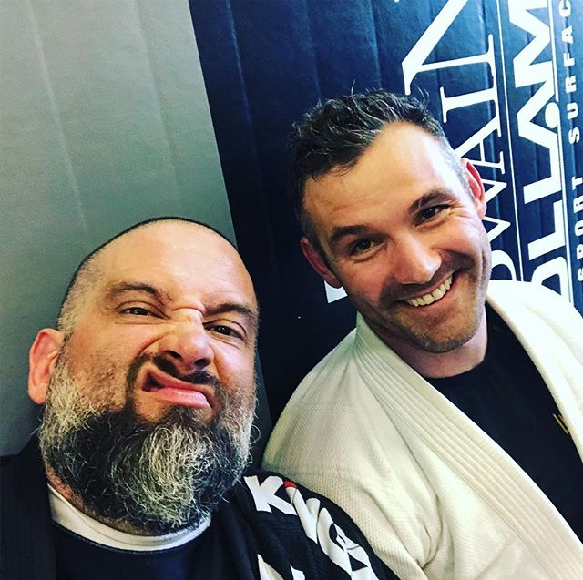 Love this guy! Oh and we all rolled around on the mat and it was glorious! #jiujitsu #bjj #patricosympatico