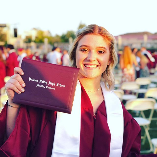You did it baby! Today's milestone marks a page turning in your book. The next chapter begins tomorrow. It's time to write your story! I love you, Hannah! #graduate