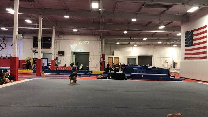 Lainey's first floor routine of the competition season. Great job @lainey.armeda!!!