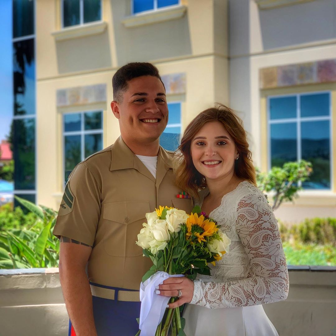 My daughter married a Marine. I love you @hannah.echevarria! Congratulations to you and Zach and may your journey together bring you great joy and happiness!
