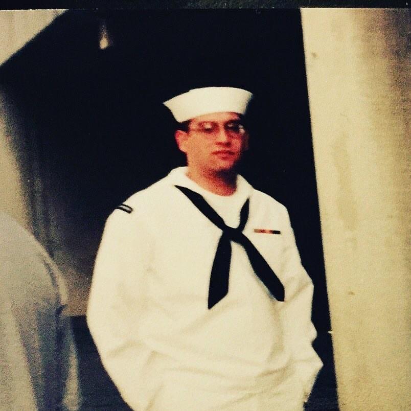 First reenlistment. Circa 1999.